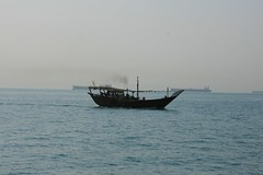 Dhow and Oil Tankers, Persian Gulf