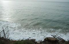 King Tides 2012: Tide approaches chain link fence (LA Waterkeeper) Tags: beach fence king malibu tides hightide 2012 facilities rockyshore santamonicabaykeeper cakingtides kingtides2012 waverunupzone californiakingtidesinitiative
