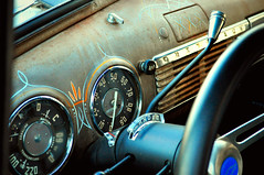 Cool Dash (tvDAVEpgh) Tags: classic chevrolet metal truck nikon interior rusty dirty american guages dashboard pinstripe d5000