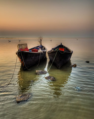 Black is beautiful (Nejdet Duzen) Tags: trip travel lake black turkey boat trkiye sandal izmir gl turkei seyahat siyah bandrma bereketli manyaslake saariysqualitypictures mygearandme manyasgl