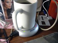 USB hub with coffee heater