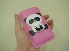 Panda iPhone leather case ( Pink ) (leatherprince) Tags: birthday cute love girl smart leather animal animals women colorful handmade unique cellphone case gift present colourful etsy elegant sleeve handstitched birthdaypresent classy iphone handcut cellphonecase dawanda iphone4 iphonecase ipoditouch leatherprince iphoneography iphone4case leathermind
