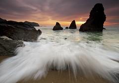 Explode - - -  Rodeo Beach, California (ernogy) Tags: sanfrancisco california sunset beach water landscape photography coast pacific wave scene rodeobeach crashingwave