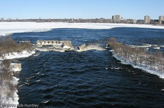 Aerial photograph of the ruins at Deschenes Rapids. (Rob Huntley Photography - Ottawa, Ontario, Canada) Tags: winter ontario cold ice photography frozen photographie quebec ottawa aerialview aerial rapids kap icy aerialphotography aylmer ottawariver kiteaerialphotography arienne deschenes aerialphotograph huntley aerienne kitephotography photographiearienne photographieaerienne robhuntley deschenesrapids robhuntleyphotography