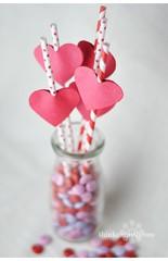 Paper straws (all things paper) Tags: paper stripes valentine polkadots straws