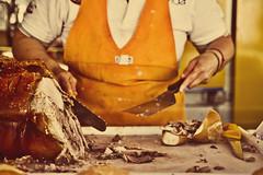 Porchetta Abruzzese (Bianconero Photo LRPS) Tags: italy food pig italia tasty meat delicious pork snack abruzzo panino porchetta abruzzese