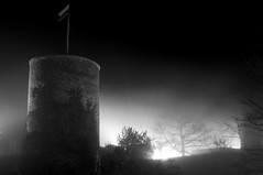 Burg Hohennagold (Michad90) Tags: bw white mist black castle fog night germany nikon burg d90 nagold hohennagold