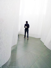a layered walk (Paavani) Tags: travel november usa newyork man mobile museum photography shoes alone walk top formal fast peaceful moma translucent layers lonely attire 2011 paavani somanyquestion