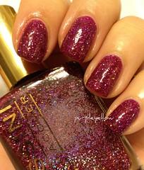 Massini Purple Medallion (purple yellow) Tags: studio purple nail polish m medallion massini