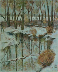 Winter Woods (Marj Morani) Tags: paintings shore marj eastern morani