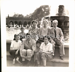 Furlough 1944 (mizaliza) Tags: holiday fountain photo centralpark etsy familyportrait 1944 bethesdafountain furlough photovintage photoantique etsydelphiniumsbluedelphiniumsbluefound