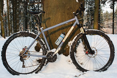 Singular Swift Winter (Riemanello) Tags: trip snow denmark vinter mtb singular