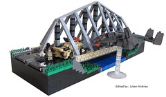 Bridge Mainpicture (Andreas) Tags: bridge modern army us highway lego military eu warsaw shock darkwater combat troops diorama pact protos brickarms