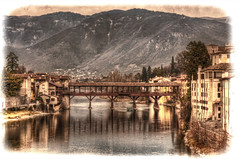 Ponte Vecchio photoshopped (Fil.ippo) Tags: old bridge photoshop ps ponte alpini filippo bassano grappa palladio vecchio cs5 abigfave d5000 flickrdiamond