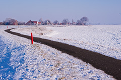 Uitdam (ErikAnna) Tags: blue netherlands nederland noordholland waterland ijs uitdam