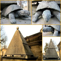 It's so heavy ! (Kay Harpa) Tags: paris france graves pyramide tombes cimetièredupèrelachaise tortues photokay hiver2012