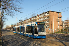 Johan Huizingalaan - Amsterdam (Netherlands) (Meteorry) Tags: street west holland public netherlands amsterdam europe afternoon transport nederland thenetherlands siemens tram february streetcar rue 13g tramway paysbas aprsmidi noordholland 2014 combino stadsarchief slotervaart northholland meteorry publique ouest johanhuizingalaan henridunantstraat gvb2017