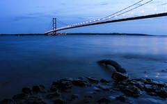 Humber Bridge 03 (Alasdair Jackson) Tags: uk bridge sunset england canon landscape evening spring iii driftwood shore 1855mm hull mk humber eastyorkshire humberside