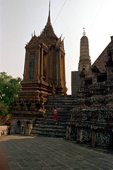 19-285 (ndpa / s. lundeen, archivist) Tags: people color detail building tower film architecture stairs 35mm buildings thailand temple bangkok stupa buddhist stonework details nick steps tourists spire thai 1970s ornate 1972 19 buddhisttemple watarun 1973 dewolf prang architecturaldetails templeofdawn nickdewolf photographbynickdewolf reel19