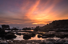 Heisler Park Laguna Beach (meeyak) Tags: ocean california longexposure travel sunset sea vacation usa seascape beach silhouette night clouds dark fun outdoors happy spring nikon rocks cloudy rocky adventure socal lowtide laguna southerncalifornia orangecounty oc westcoast lagunabeach 1635mm heislerpark d5500 meeyak