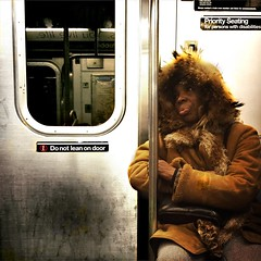 "8:04 AM ""Marla"" (ShelSerkin) Tags: street nyc newyorkcity portrait newyork subway candid streetphotography squareformat gothamist iphone mobilephotography iphoneography shotoniphone hipstamatic strangersintransit shotoniphone6"