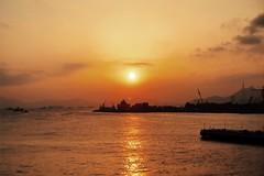 Golden sun (Charthy_P) Tags: sunset hk orange sun weather hongkong golden warm vsco iphoneography vscocam