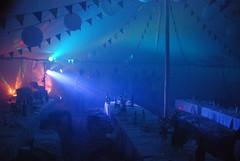 Rainbow bunting in a Tent (www.emma-bunting.co.uk) Tags: lighting party disco lights rainbow dj emma tent northumberland yurt teepee morpeth tipi bunting festoon belltent tentipi emmabunting