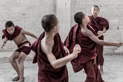 Ballet of the Monks-DSC_9279-3 (thomschphotography3) Tags: red ballet football burma streetphotography monks myanmar birma novices