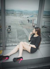 jaylin-0049 ( Jaylin) Tags: travel portrait stockings girl outside ol photo airport model women uniform open library longhair taiwan olympus lookout heels taipei sailor mirco omd pepole hight m43 mzd jelin linjay