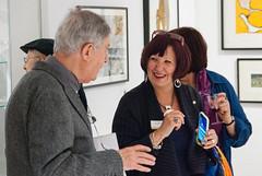 Socialising (jonnydredge) Tags: london nikon exhibitions va textiles pv morley privateview inspiredby arttextiles morleygallery moderneccentrics