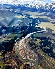 Snake River, Jackson Hole, Grand Tetons (Rosa Say) Tags: aerial snakeriver wyoming jacksonhole