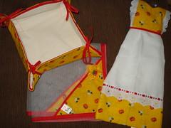Conjunto da amiga Sandra (Fabiana Lopes FEITO A MO) Tags: de po cobre lanche tecido cestinha