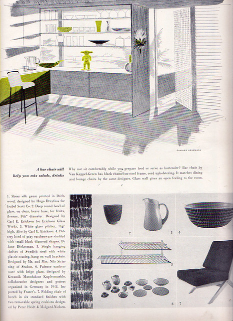 Article in October, 1952 House & Garden Magazine