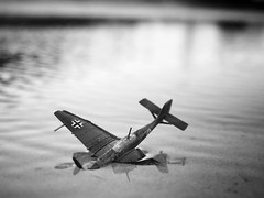 In modern war... (Fear_Through_The_Eyes) Tags: macro beach water toy war close german luftwaffe wynnum
