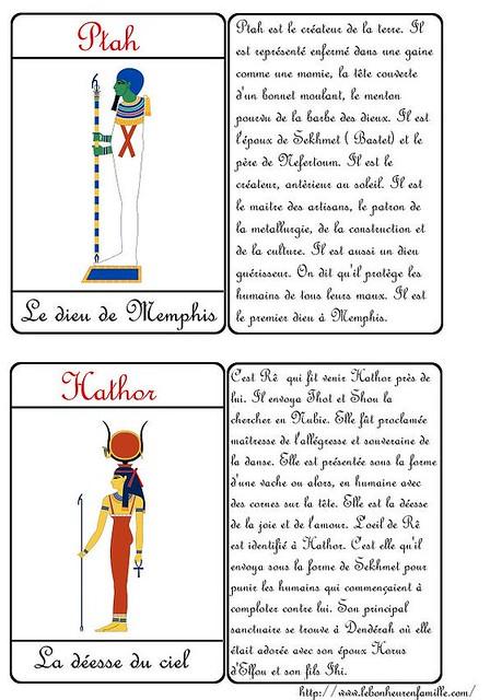 AAAAAAAAAAAAAAAAAACartes Dieux Ptah et Hathor