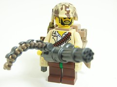 Camo Combo (Silenced_pp7) Tags: brick arms lego fig mini camo figure guns minifig forge custom ammo printed minigun minifigure kukri brickarms brickforge