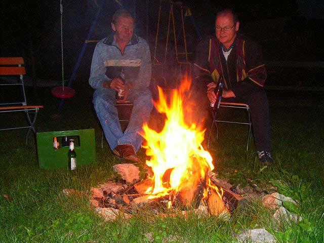 Ferienwohnungen Selz - Lagerfeuer
