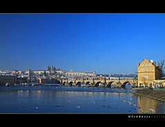 Prague - Charles' bridge and Saint Guy cathedral in the background (lathuy) Tags: bridge prague praha pont charlesiv czeck tchquie