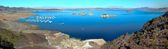 largest man made lake in the western hemisphere (pbo31) Tags: november blue panorama lake west color marina nikon view lasvegas nevada over panoramic lakemead vista overlook stitched bouldercity 2011 boulderharbor d700