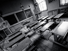 School is like a lollipop, it sucks until it is gone (PeterJ) Tags: blackandwhite bw holland heritage history netherlands dutch museum pen ink blackwhite desk olympus inkwell console zuiko enkhuizen lr ijsselmeer lightroom zuiderzeemuseum 2011 m43 mft aapnootmies epl1 918mm wierdijk frompeterj