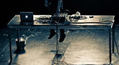 Skrillex (awallphoto) Tags: show arizona music pen 35mm jump concert dof live stage az olympus 100mm depthoffield ft f2 zuiko dub dubstep 43 shg bwfilter 2011 zd fourthirds awall 35100mm concertlighting aaronwallace skrillex epl1 awallphoto awallphotocom