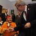 Navajo Code Talker Joe Vandever Sr. meets Rep. David Schweikert (AZ-05) following a special honor hosted by Rep. Paul Gosar (AZ-01) honoring the Navajo Code Talkers. Dec. 7. 2011. Photo by Jared King / NNWO  This Navajo Nation Washington Office photograph is being made available only for publication by news organizations and/or for personal use printing by the subject(s) of the photograph. The photograph may not be manipulated in any way and may not be used in commercial or political materials, advertisements, emails, products, promotions that in any way suggests approval or endorsement of Navajo Nation President Ben Shelly or Vice President Rex Lee Jim.