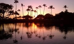 Magic Island Pond sunset (madmarv00) Tags: sunset hawaii magicisland honolulu alamoana