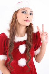 Peace On Earth And Good (emotiroi auranaut) Tags: santa christmas red woman white cute beautiful beauty japan lady asian nice pretty cosplay gorgeous seasonal lovely charming helper beautyshoots