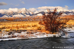 Warm Light on a Cold Day (James Neeley) Tags: sunrise landscape salmon idaho lonepine hdr 5xp jamesneeley flickr23