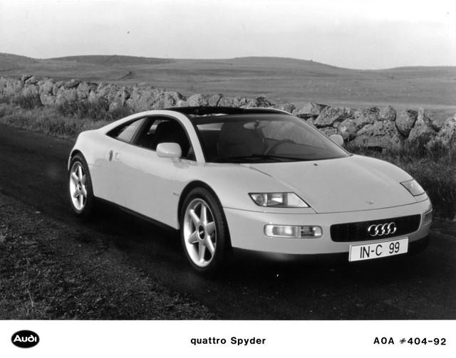 car spyder 1992 concept audi quattro pressphoto