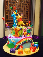 Winnie the Pooh birthday cake (Jcakehomemade) Tags: firstbirthdaycake charactercake funcake partycake noveltycake celebrationcake cartooncake designedcake custommadecake eeyorebirthdaycake pigletbirthdaycake 3dbirthdaycake tiggerbirthdaycake winniethepoohcakes wwwjcakehomemadeblogspotcom jessicalaw jaydensbirthdaycake winniethepoohthemebirthdaycake kidsnoveltycake