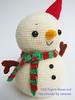 Snowman (Jaravee) Tags: cute snowman doll handmade crochet plush amigurumi kawai