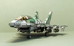 Bomb truckin' (Aleksander Stein) Tags: fighter lego military air attack jet ground swing eurofighter strike f2 tempest role ids superiority multirole twoengine