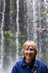 Mum at Russell Falls (Mark-Farrell) Tags: park canon waterfall amazing rainforest scenery national tasmania 5d wilderness hobart forests mkii strahan 5d2